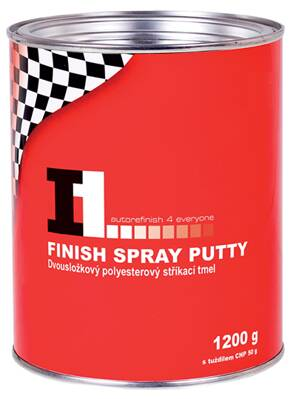 I1 FINISH SPRAY PUTTY tmel stříkací 1200 g
