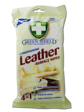 GREEN SHIELD Leather ubrousky na kůži 50 ks